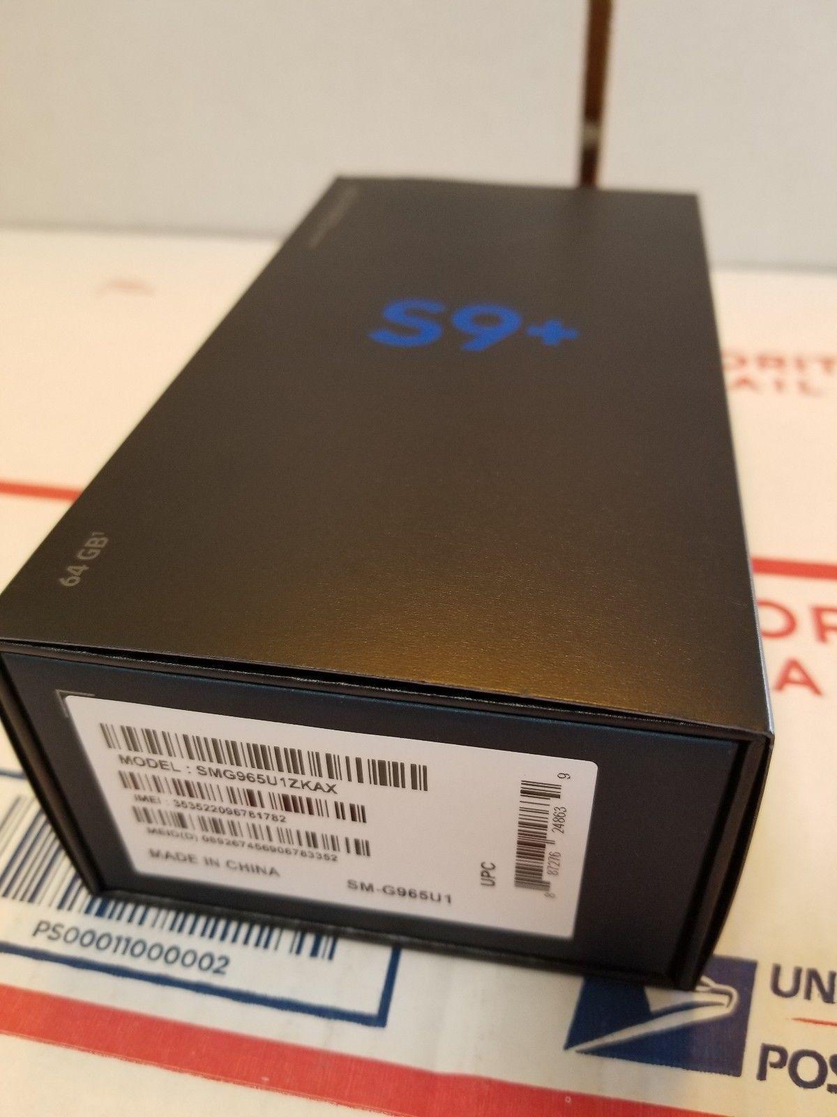 New Original Samsung S9 plus 128gb preto Unlocked