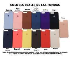 Funda silicon iPhone + mica de vidrio GRATIS