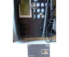 Teléfono fijo ZTE con chip 8 dígitos